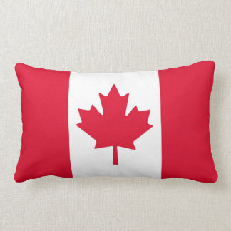 Feuille d'érable canadienne de drapeau Canada Coussin Rectangle