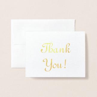 "Feuille d'or élégante ""Merci !"" Carte"
