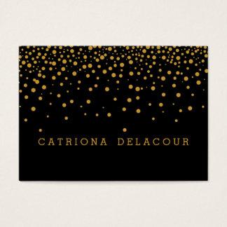Feuille d'or noire moderne simple professionnelle cartes de visite