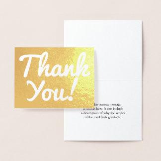 "Feuille d'or simple ""Merci !"" Carte"