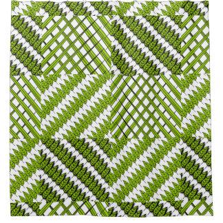 Feuille et rideau en douche modelé par herbe