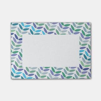 Feuille floral de vert bleu de motif de fougère post-it®