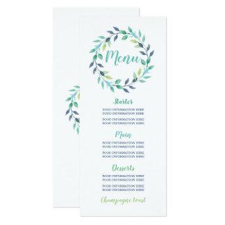 Feuille turquoise de guirlande de cartes de