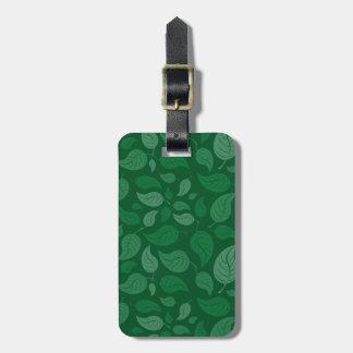 Feuille vert étiquette à bagage
