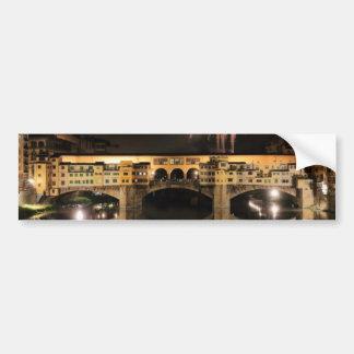 Feux d'artifice au-dessus de Ponte Vecchio à Autocollant De Voiture