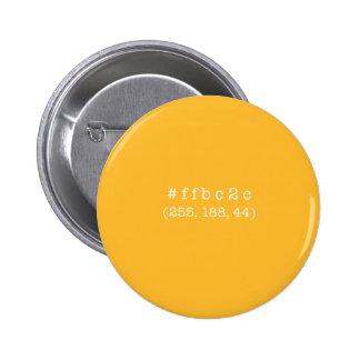 #ffbc2c de Knoop van de cirkel (Witte tekst) Ronde Button 5,7 Cm