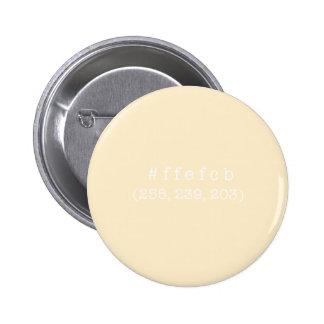 #ffefcb de Knoop van de Cirkel (Witte tekst) Ronde Button 5,7 Cm