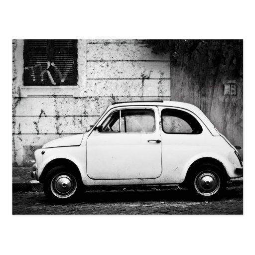 Fiat 500 à Rome, Italie Cartes Postales