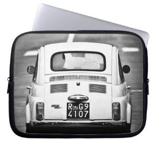Fiat 500, cinquecento, à Rome, douille d'ordinateu Housse Pour Ordinateur Portable