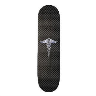 Fibre médicale de carbone de noir de symbole de planches à roulettes