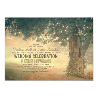 ficelle de faire-part de mariage rustique d'arbre