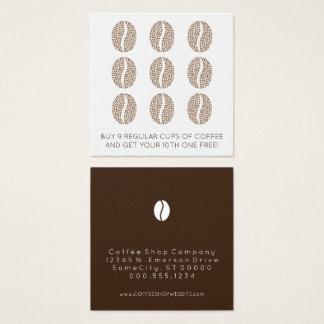fidélité de grains de café carte de visite carré