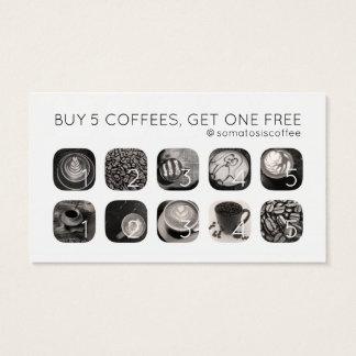 fidélité de grammes de café cartes de visite