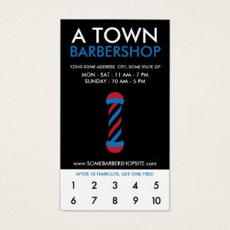 fidélité de la ville haute de raseur-coiffeur cartes de visite