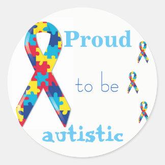 Fier d'être autocollant autiste