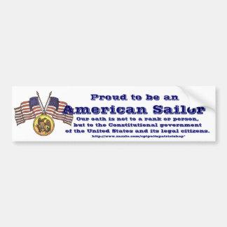 Fier d'être un marin américain autocollant de voiture