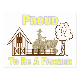 Fier d'être une carte postale d'agriculteur