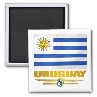 """""""Fierté de l'Uruguay """" Magnet Carré"""