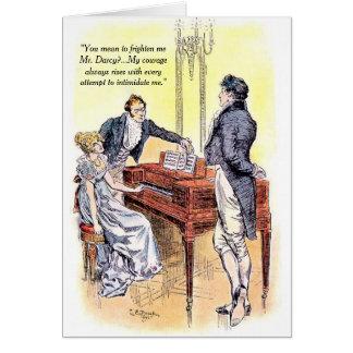 Fierté de M. Darcy de Jane Austen et courage de Carte De Vœux