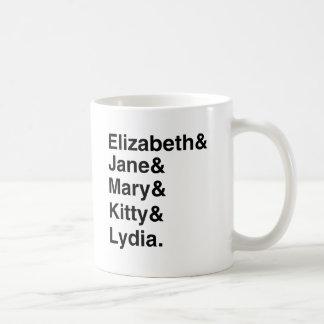 Fierté et préjudice - tasse de liste de noms de