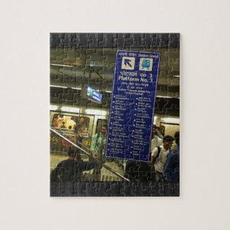 Fierté indienne de chemins de fer de métro de puzzle