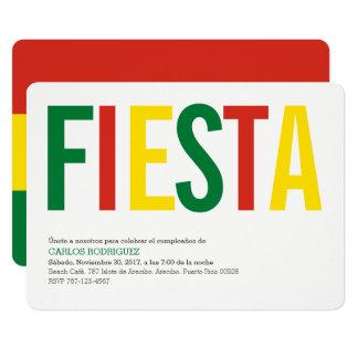 Fiesta Bolivie Carton D'invitation 12,7 Cm X 17,78 Cm