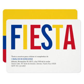 Fiesta Colombie Carton D'invitation 12,7 Cm X 17,78 Cm