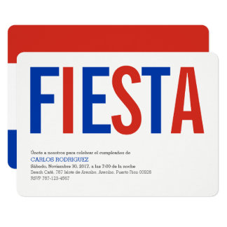 Fiesta Paraguay Carton D'invitation 12,7 Cm X 17,78 Cm
