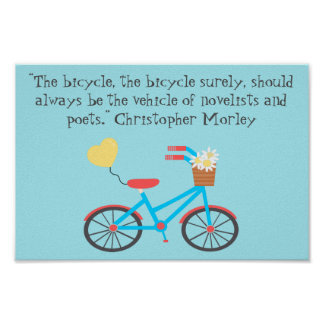 Fiets Christopher Morley Quote Poster