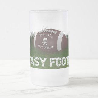 Fièvre du football d'imaginaire frosted glass beer mug