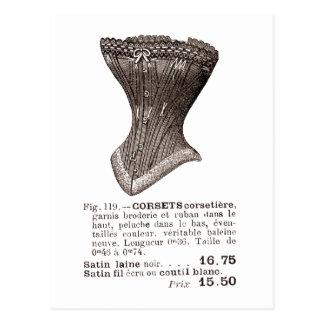 fig. 119 carte postale de corset