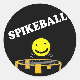 Filet drôle de Spikeball avec l'art de visage de Sticker Rond