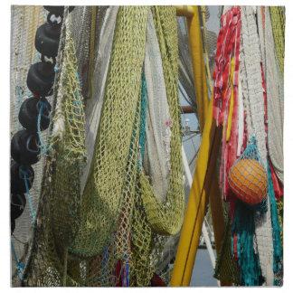 Filets de pêche abstraits de plage de serviettes
