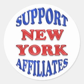 Filiales de New York de soutien Sticker Rond