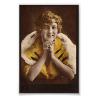 Fille 1922 moderne impression photo