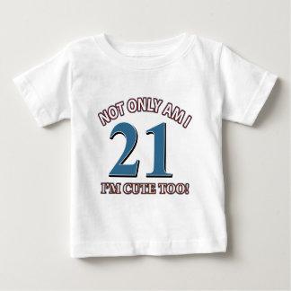 Fille 21 d'anniversaire t-shirt pour bébé