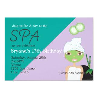Fille à l'invitation de fête d'anniversaire de carton d'invitation  12,7 cm x 17,78 cm