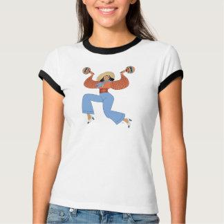 Fille avec des maracas t-shirt