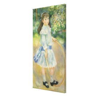 Fille avec le cercle par Pierre Renoir, beaux-arts Toiles