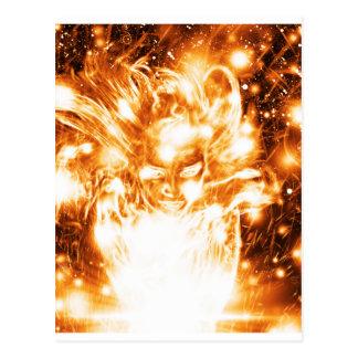 Fille brûlante carte postale