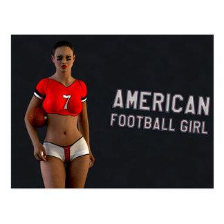 Fille Chablis de football américain Cartes Postales