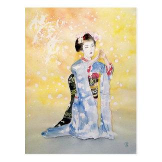 Fille de Maiko -2 Cartes Postales
