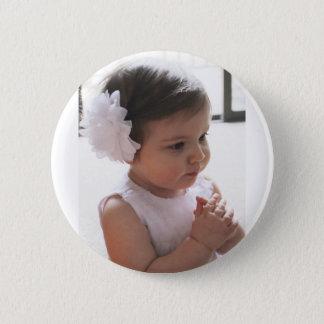 Fille de prière badge rond 5 cm