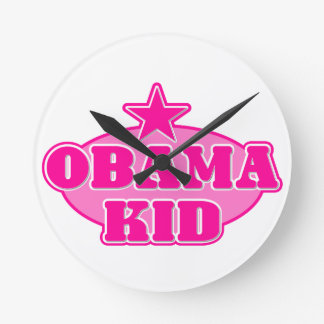 Fille d'enfant d'Obama Horloge Ronde