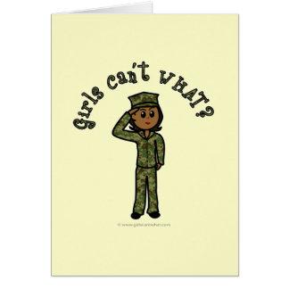 Fille militaire - obscurité carte