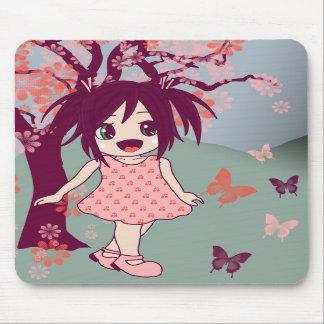 Fille Mousepad de Manga d'Anime de Chibi de Japona Tapis De Souris