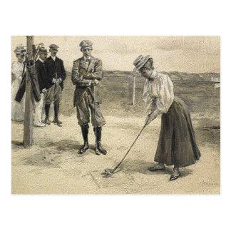 Fille SUPÉRIEURE de golf Carte Postale