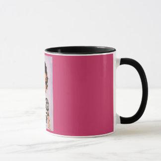 """""""Fille tasse avec de coeur de tatouage"""" de café"""