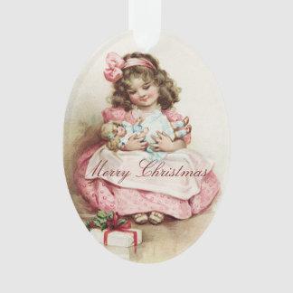 Fille vintage avec la poupée