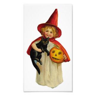 Fille vintage de Halloween Photo D'art